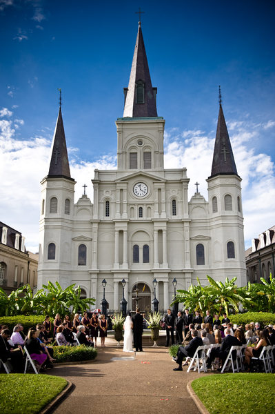 Jackson Square Wedding Ceremony Photograph