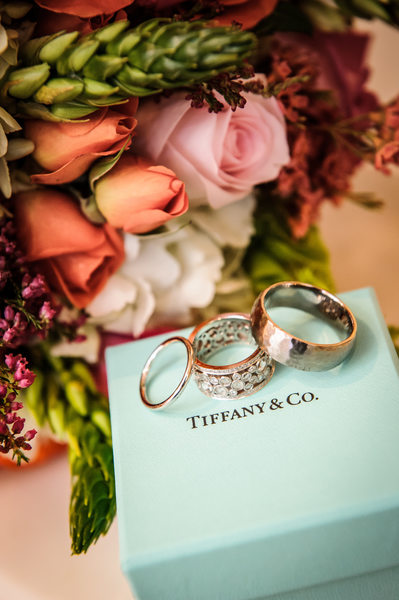 Wedding Rings on Tiffany Box