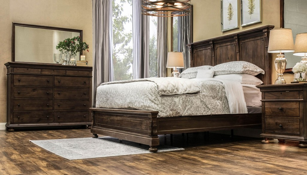 High end bedroom furniture photography in Fort Worth, Texas.