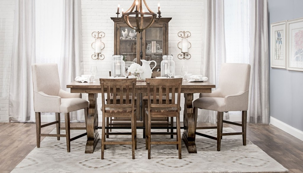 Commercial product photography of dining sets in Texas