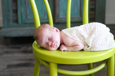 Phoenix Newborn Photographer - Sleeping on Chair