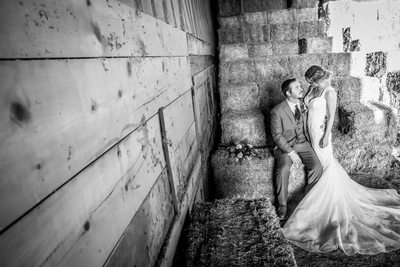 Bride and Groom at a Ranch in Wickenburg