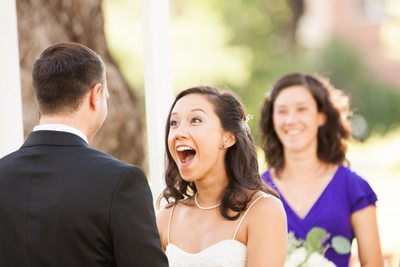 Bride Reaction to Groom's Vows