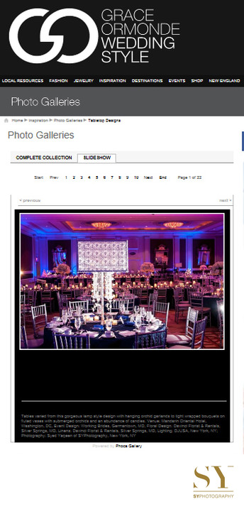 Luxury wedding tablescapes in Grace Ormonde photo gallery