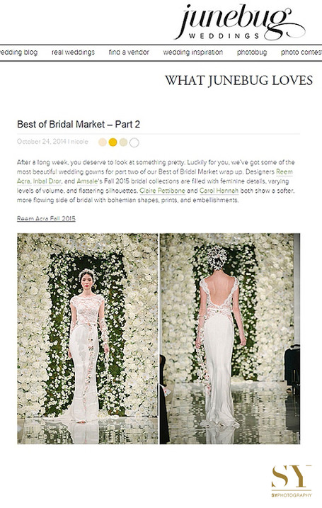 Published Junebug weddings NYbridalweek