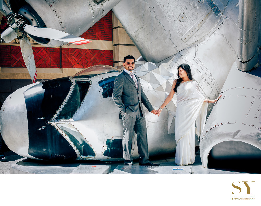 Engagement session Philadelphia PAFA Indian wedding