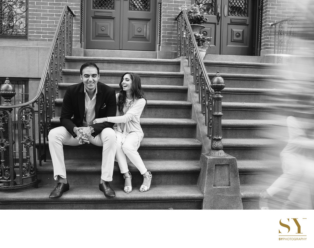 NYC Meatpacking district engagement photo wedding photographer