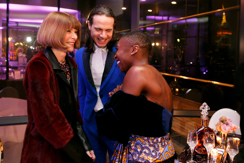Cynthia Erivo with Anna Wintour and Jordan Roth