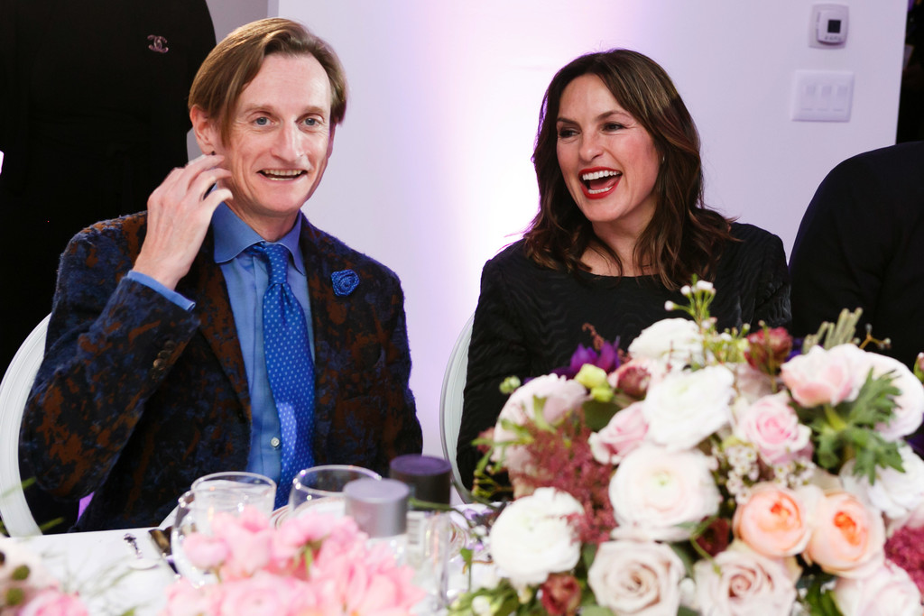Vogue's Editor Hamish Bowles and actor Mariska Hargitay
