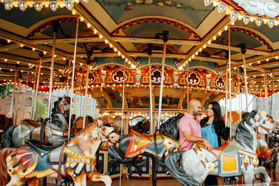 Brooklyn engagement photographer Jane's Carousel