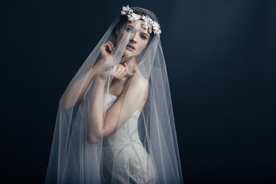 Bridal fashion designer Sareh Nouri Lookbook in studio
