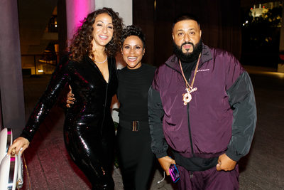 Celebrity event planner Kathy Romero with DJ Khaled and Nicole Tuck