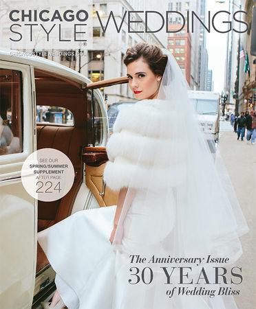 Chicago style Weddings Magazine cover SYPhotography