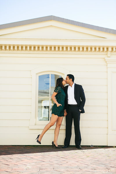 Fairmount Park Waterworks wedding photographer engagement photo