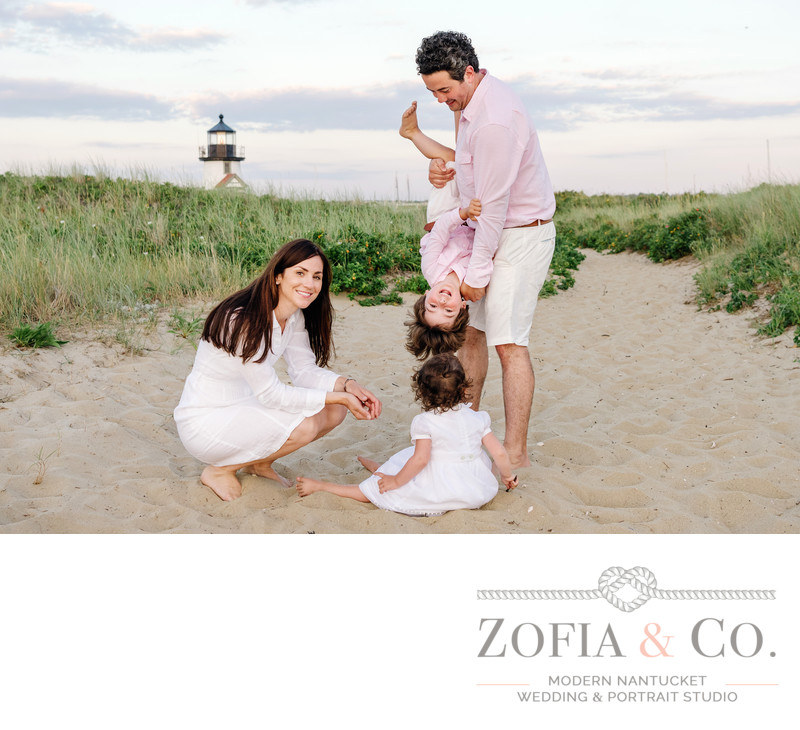 silly candid family nantucket portrait photography