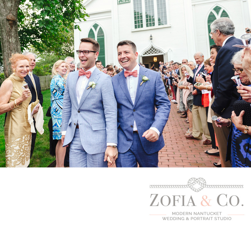 nantucket grooms in red bowties