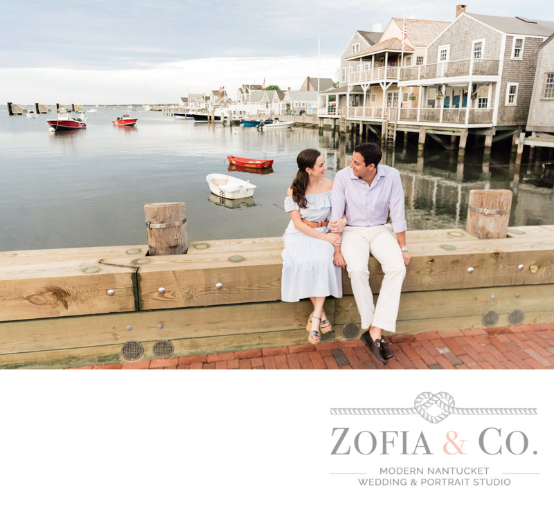 easy st nantucket red boat engagment session
