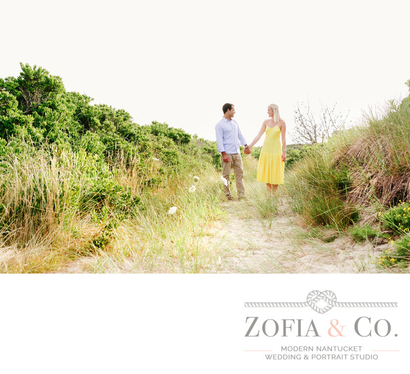 engagement session in beach dunes