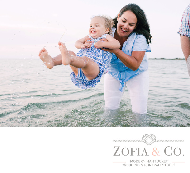 nantucket lifestyle family session at the beach