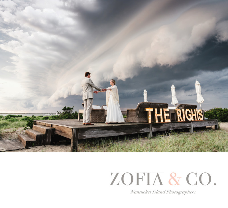 Katy and Graham, Wauwinet SuperCell Storm Wedding