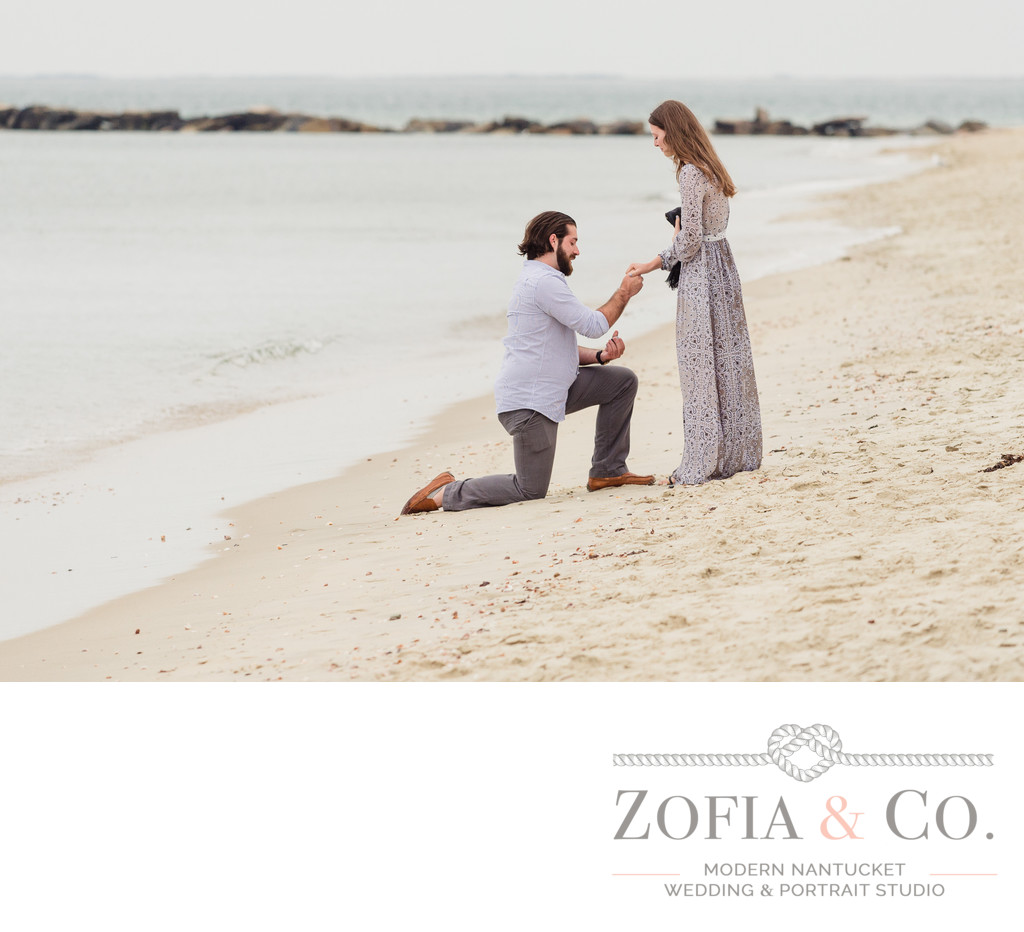 Galley Beach Nantucket marriage proposal photos