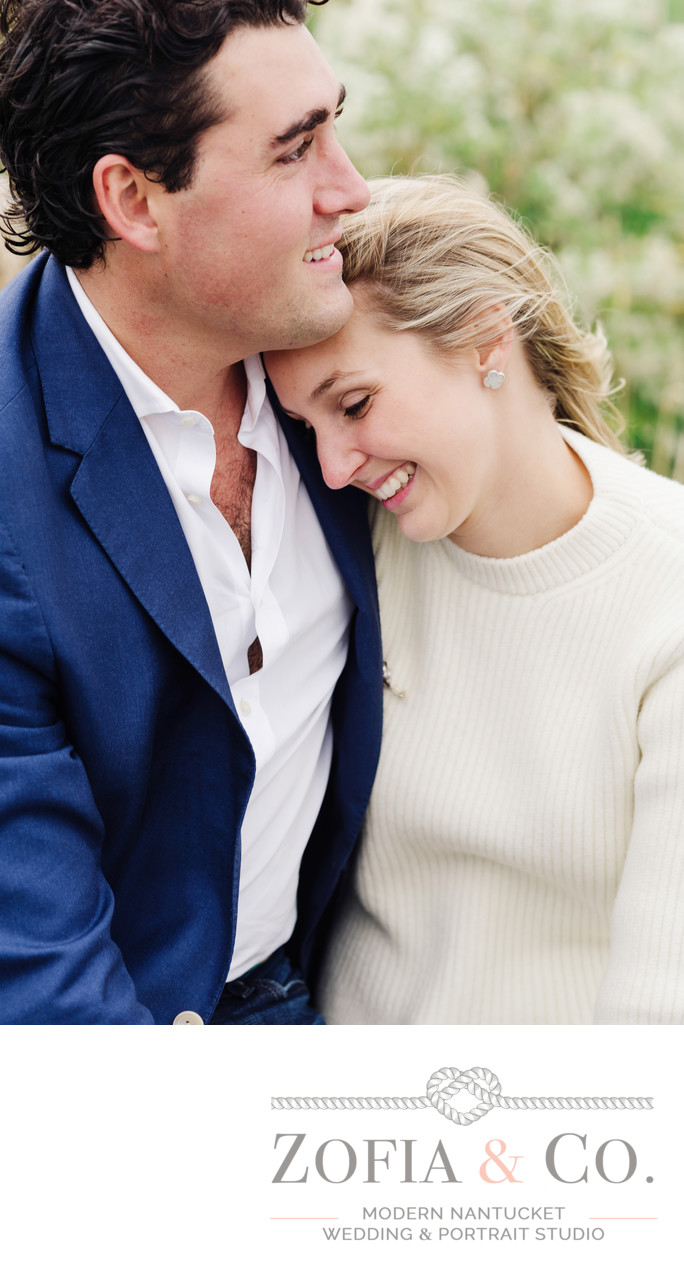 fall engagement portraits at great harbor yacht club
