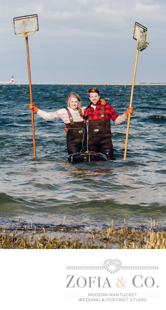 nantucket scalloping engagement monomoy brant point