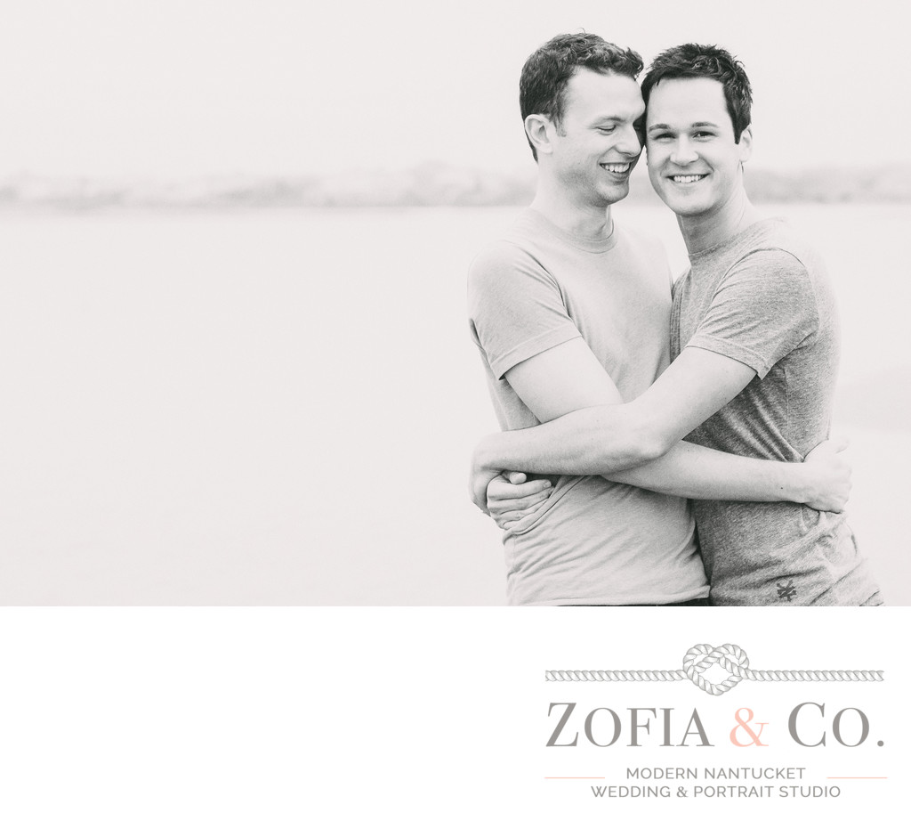 Nantucket Beach Couples Photos grooms