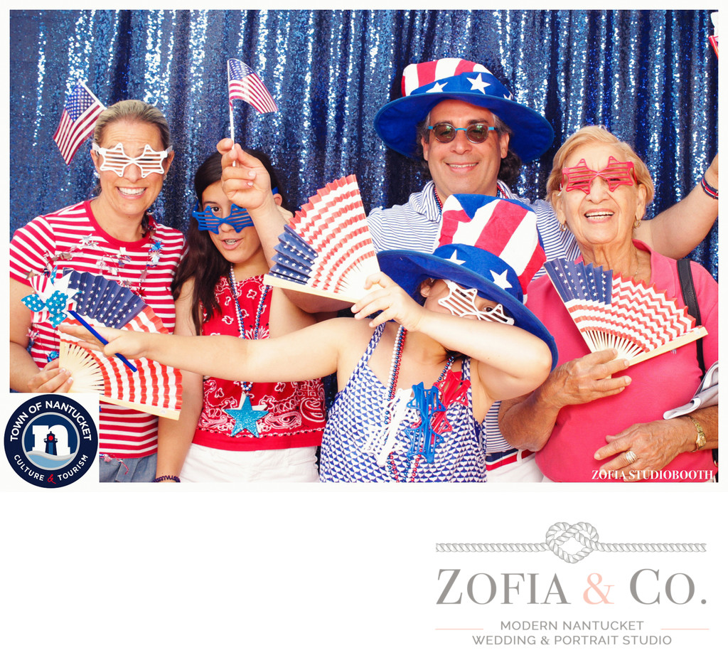 4th of july nantucket photobooth