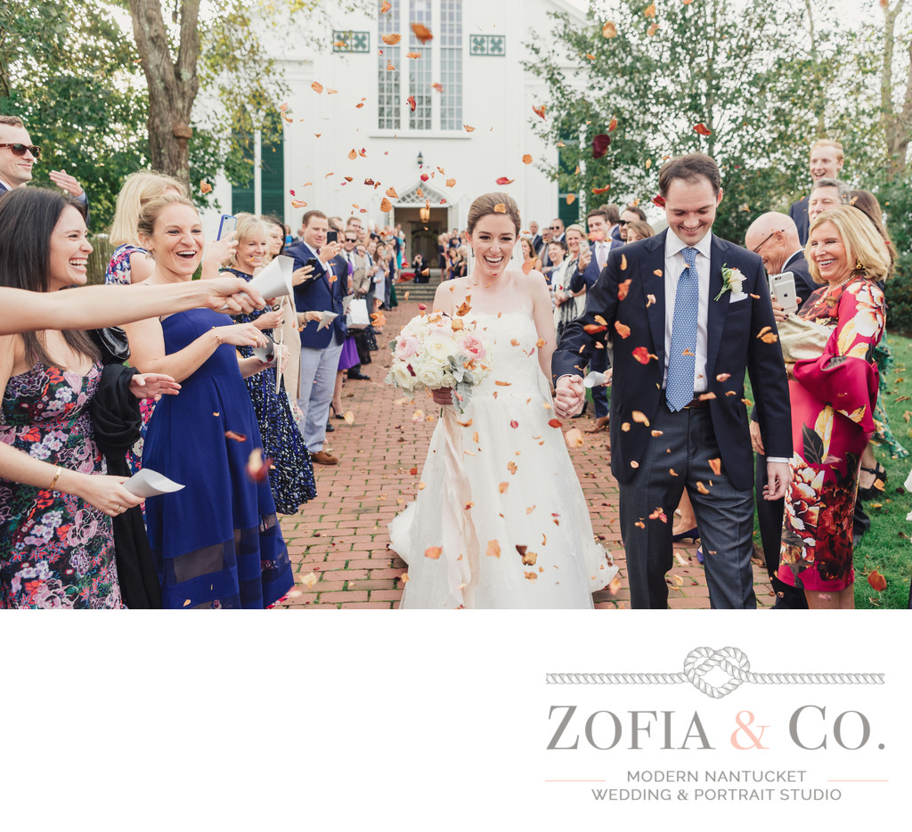 wedding photography at first congregational nantucket church