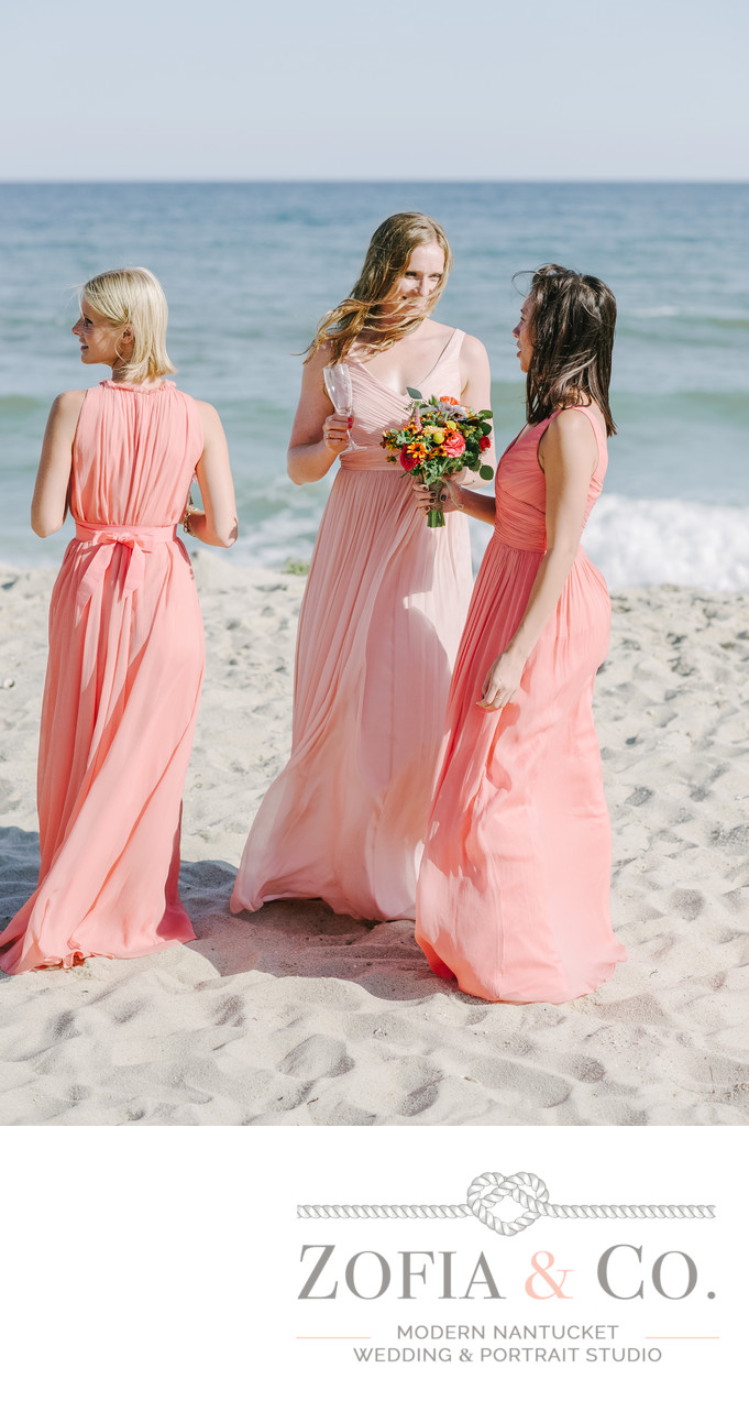 Beach Nantucket Bridesmaids at Tom Nevers