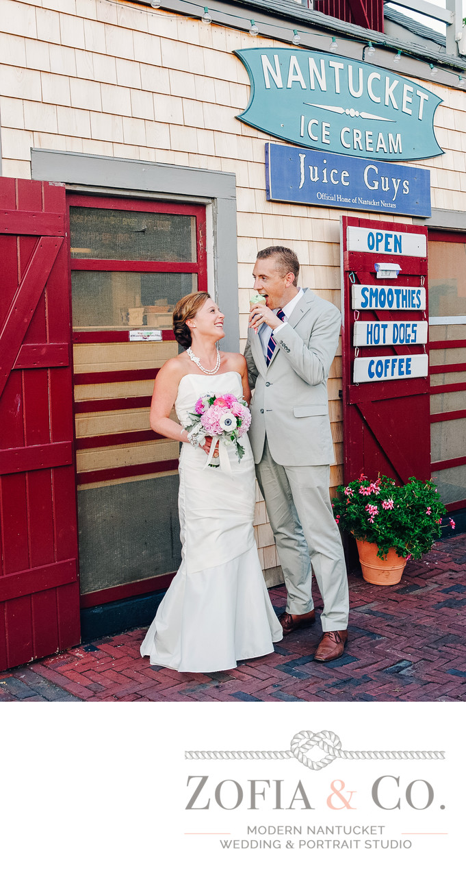 Nautical Wedding Portraits at Juice Bar Ice Cream