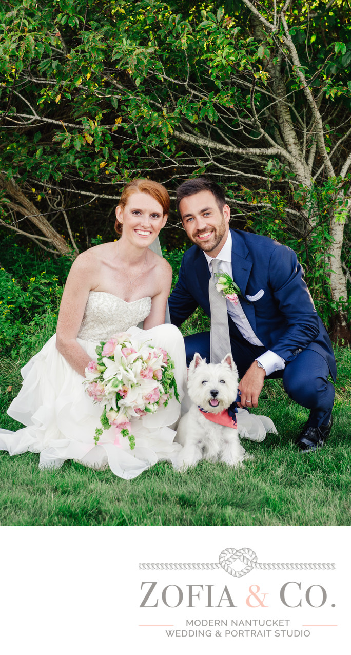 Nantucket married couple in Tom Nevers Heidi Ho dog