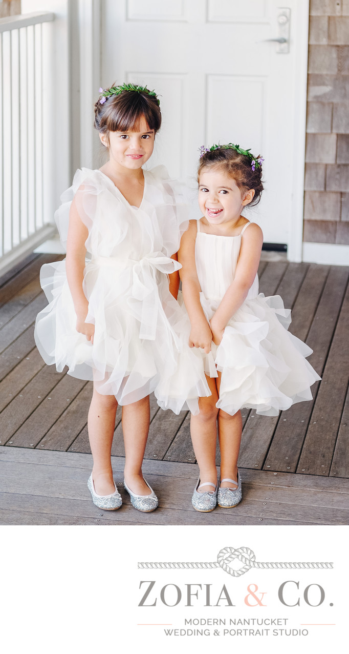 JCrew Flower girls with crown