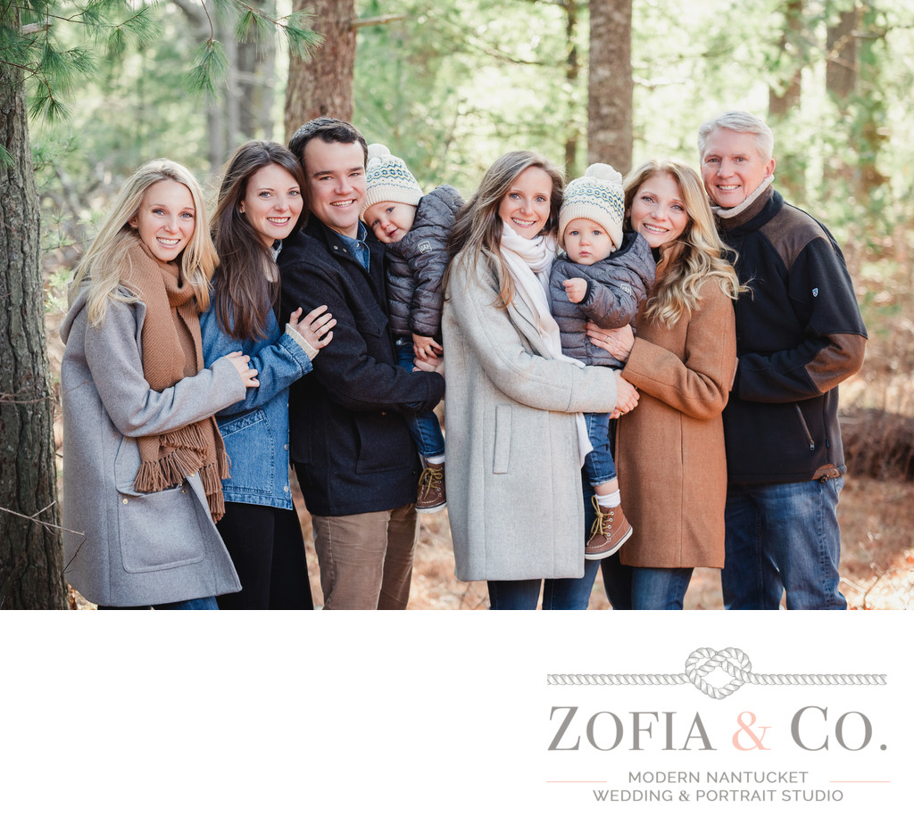 fall family photographer nantucket forest