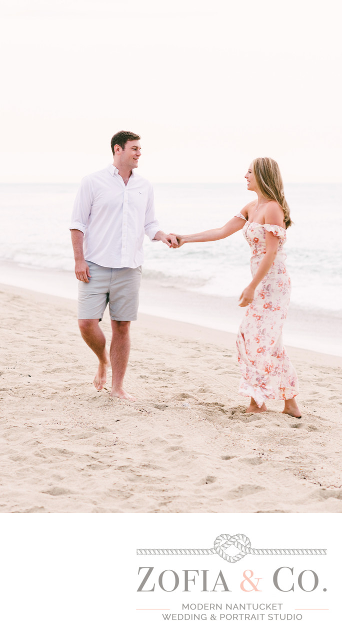 dancing on the beach engagement session
