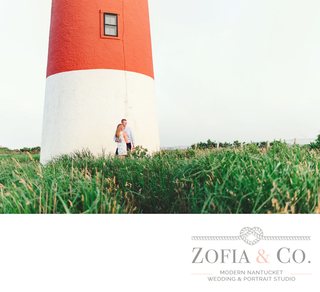 sankaty lighthouse sconset spring engagement
