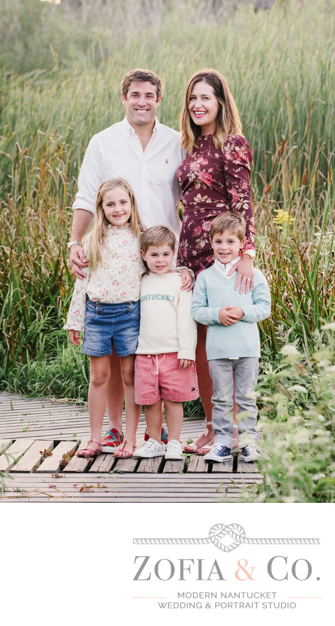 family at lily pond nantucket