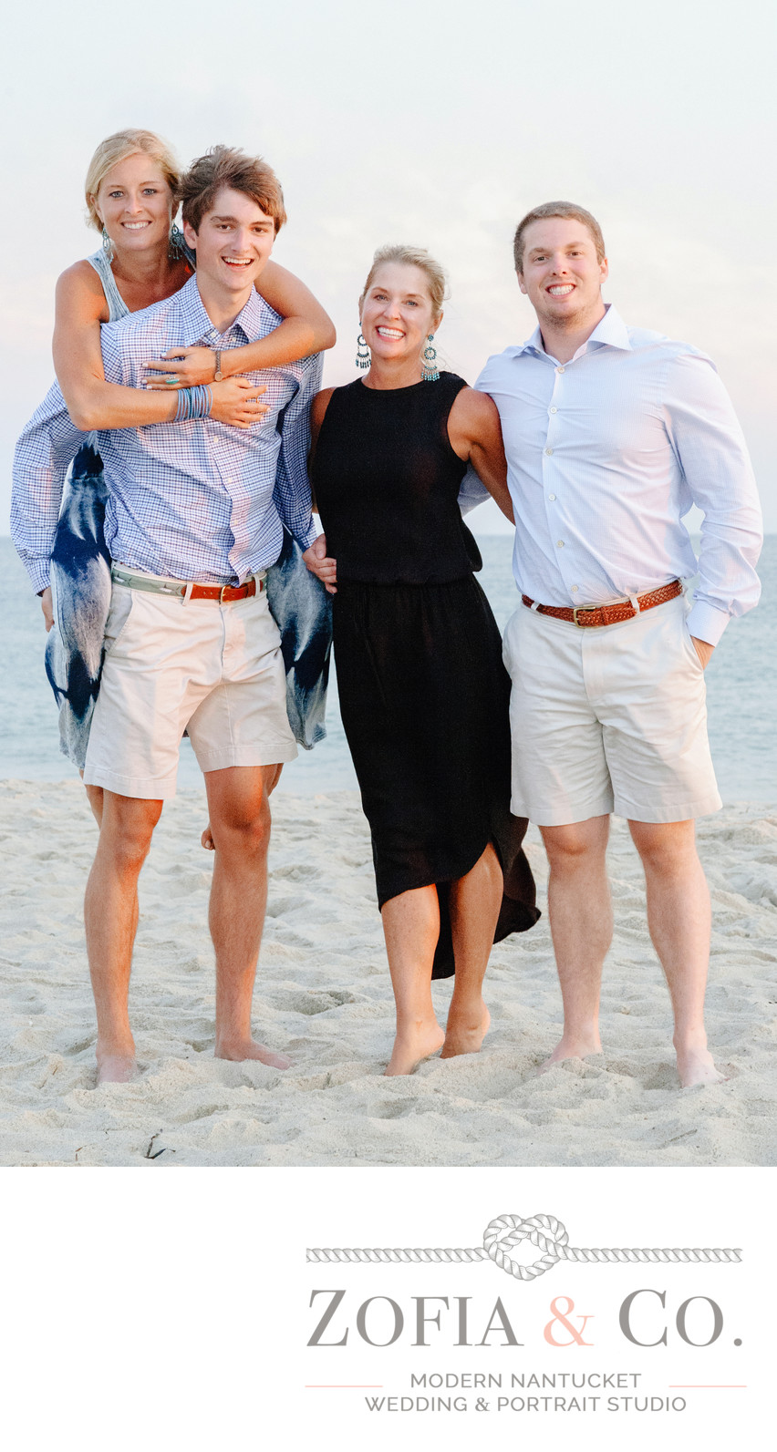 nantucket family on miacomet beach