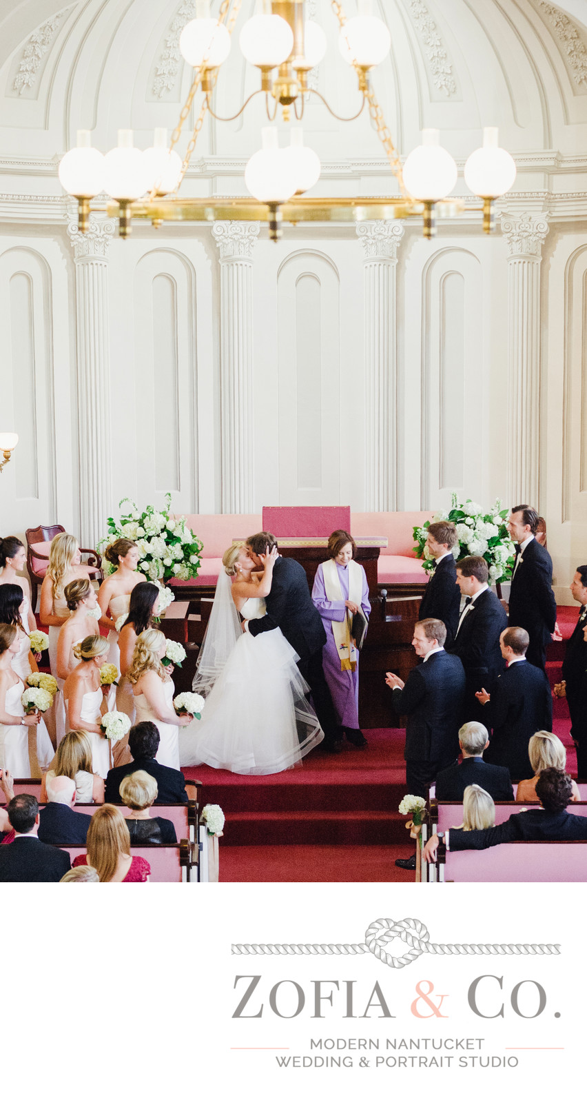 unitarian church wedding ceremony first kiss