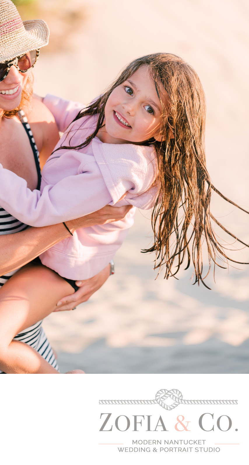 casual and fun beach photo session on nantucket vaca