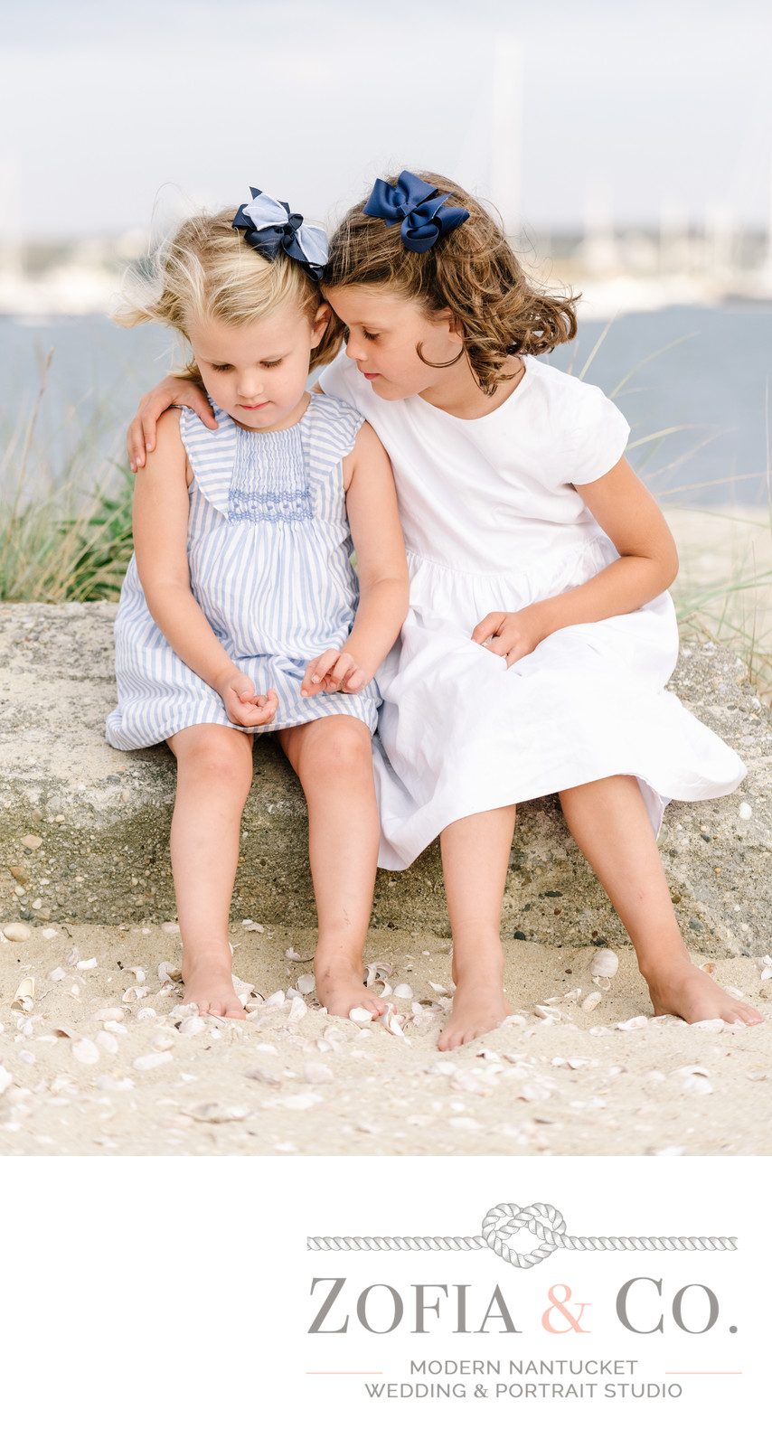 sweet sister moment beach photography