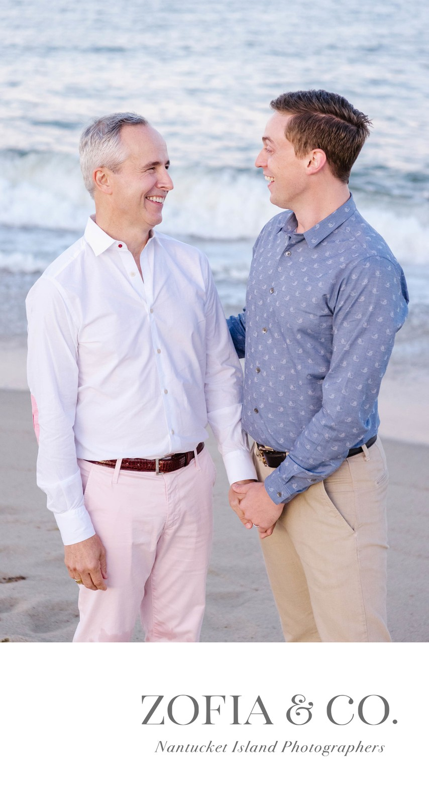 Same Sex Engagement Session Nantucket Gay Weddings