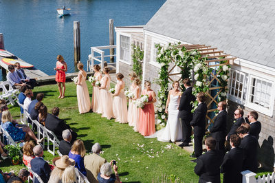 Nantucket wedding photography at Lydia Cottage