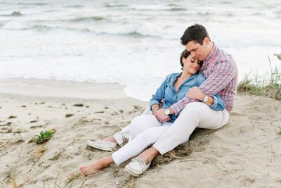 engagement session in the Nantucket dunes