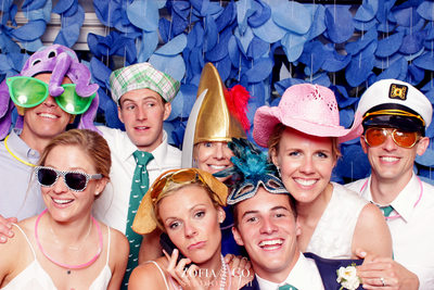 Custom Photobooth backdrop at a wedding