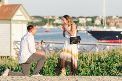 she said yes nautical marriage proposal
