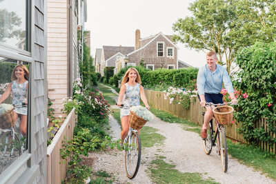 sconset nantucket bike ride engagement kjp dress