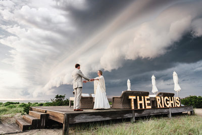 Wauwinet Nantucket Super Cell Storm Wedding