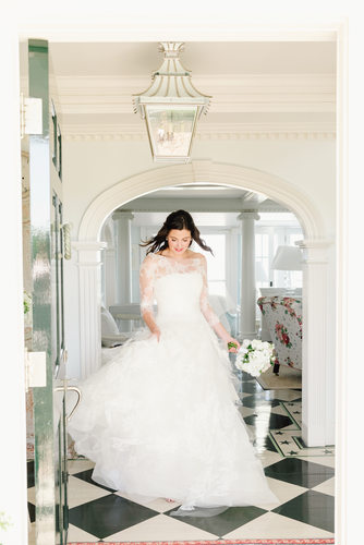 vera wang wedding gown nantucket bride dancing